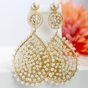 Handmade Wedding Pearl Earrings
